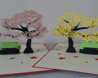 Blossom Tree Pop up Card Birthday- Mother's Day-Get well- Retirement-Anniversary-Blank (sku069/145)