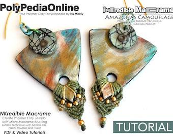 SALE! Macrame patterns, Macrame Tutorial, Micro Macrame Pattern, Earring Pattern, Handmade, Macrame Jewelry, DIY Macrame, Polymer Clay