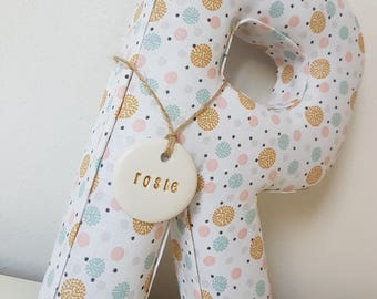 Individual fabric letters