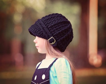 5 Sizes Black Hat Baby Hat Toddler Hat Baby Girl Hat Baby Boy Hat Toddler Girl Hat Toddler Boy Hat Womens Hat Mens Hat Crochet Winter Hat