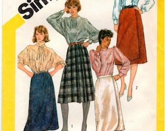 Vintage UNCUT Simplicity Pattern 6080 - Misses Set of Front-Wrap Skirts - Size 14