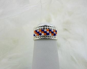 Blue and orange ring