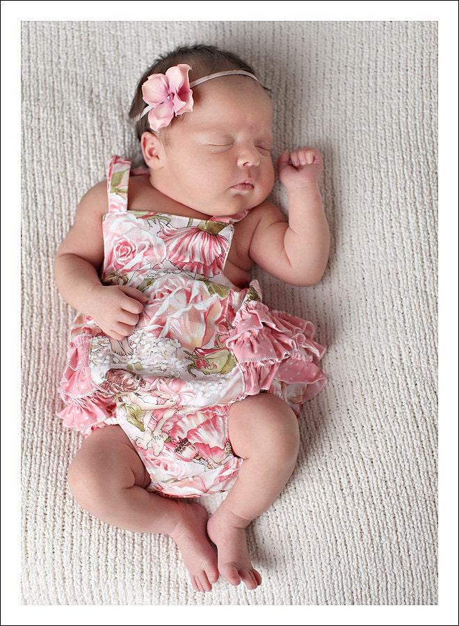 Baby Pattern Pdf Ruffled Baby Romper Bubble Romper Pattern