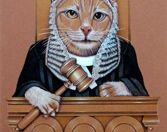 Cat Art, Let Your Cat Be The Judge, Fabulous Unique Art By Nancy E Rhodes