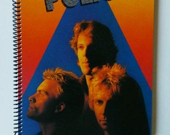 "The Police Sketchbook Hand Made from Upcycled Vinyl Record Album Cover ""Zenyatta Mondatta"""