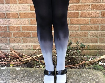 Kendall Smokey Sky Ombre Tights - More Colours - Dip Dye - Gradient - Lingerie - Hosiery - Black - Kawaii - Gift for Her - UK Sellers