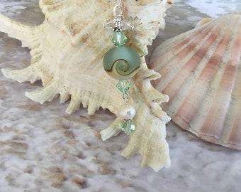 Sea Glass, Ocean Wave, Artisan, Sea Foam, Necklace, Nautical, Beach, Sand, Ocean, Seashore, Gift