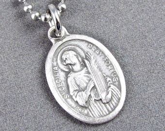 St cecilia etsy patron saint of musicians music lovers st cecilia necklace aloadofball Gallery
