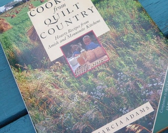 COOKING from QUILT COUNTRY, Marcia Adams, 1980s Public Broadcasting Show, Vintage Ilustrated Cookbook