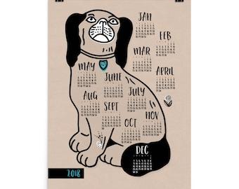 2018 Dog Calendar, Poster Calendar 2018, Dog Wall Calendar, Large Wall Calendar, Yearly Wall Calendar, Wall Calendar 2018, Dog Calendar