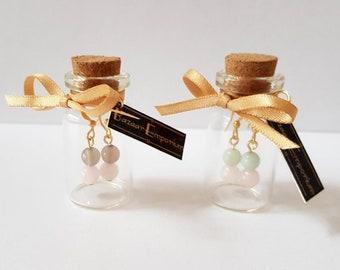 Gem's In Jar's - Choose Gemstone's! (Gold Plate)
