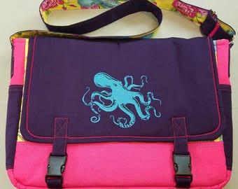 Octopus Themed Messenger Bag