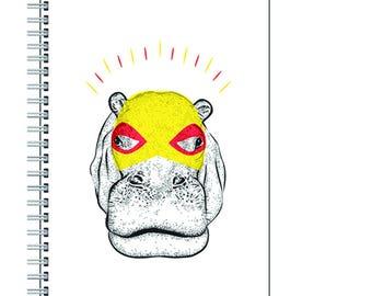 Superhero Hippo Notebook