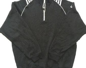 Vintage 90's Adidas 3 Stripes Varsity Jacket Sweatshirt Sport Trainer Sweater Hip Hop Size S s0Poi