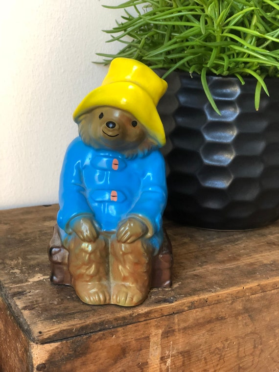 Vintage/paddington bear/coin bank/vintage hard plastic/ shelfie /England/1979/piggy bank