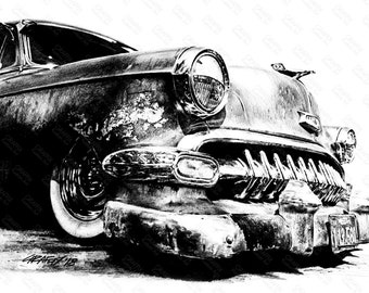 Old Chevy '54 GRAFFIX ART STUDIO