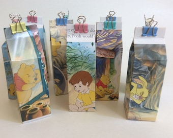 Winnie the Pooh milk carton gift box, small gift box Disney Winnie the Pooh, birthday gift box, 1st birthday, baby shower favour box.