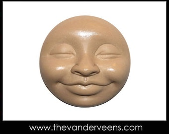 Mold No.112 (Full moon Face with closes eyes) by Veronica