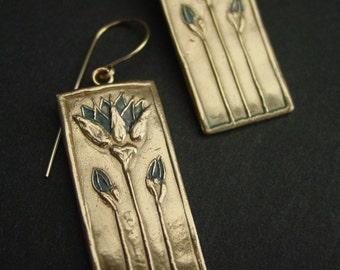 Egyptian Lotus Panel - Earrings
