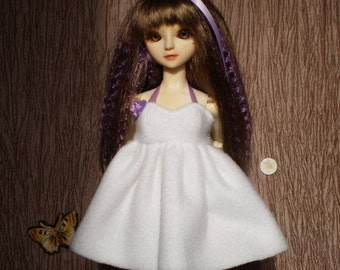 Snowy Fleece dress for MSD