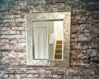 Aviator Style Wall Mirror.