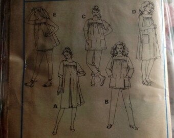 Vintage 80s Maternity Dress or Tops, Pants or Shorts Pattern // McCall's 9007, Medium, M