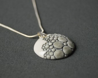"""Amsterdam 2018"", porcelain, ceramic jewelry pendant necklace. Manon Lacoste."