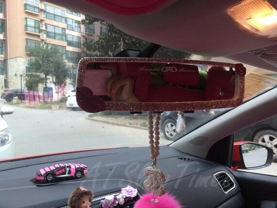 Cute Women Car Accessories Pink Lips Car rear view mirror