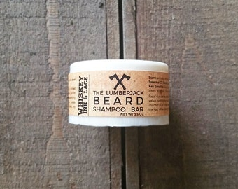 The Lumberjack  Beard Shampoo & Conditioner Bar - Shampoo for Beards, Gift for Men for Father's Day, Natural Beard Shampoo