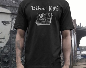 Bikini Kill T shirt screen print short sleeve     shirt cotton