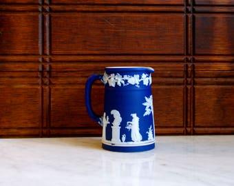 Wedgwood Jasperware Cobalt Blue Pitcher