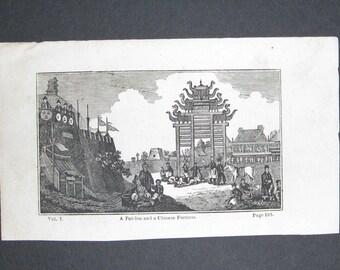 Three views of China- Original Historical Engravings - 1790's
