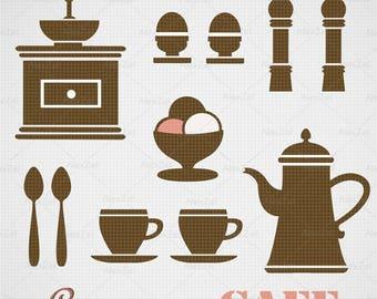 Cafe menu Svg, menu, restaurant menu, cafe clipart, coffee menu, weekly menu sticker,  cafe silhouette, menu design, cafe menu clipart