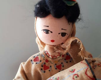 Vintage Folk Costume Doll