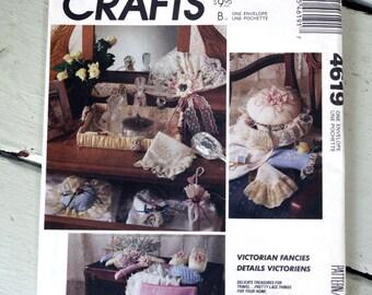 Vintage McCall's Crafts Pattern 4619  Victorian Fancies