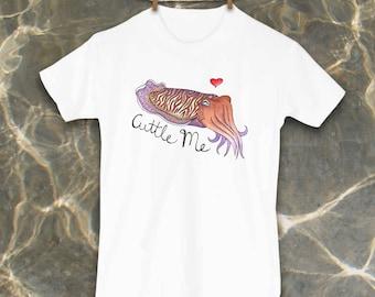 Cuttlefish, Kids tees, Cute kids clothing, Unique kid clothes, Fish shirt, Octopus, Squid, Nautical, Nautical kids decor, Ocean, Beach bum