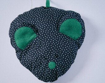 Mouse Cushion With Green Ears