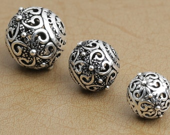 sterling silver beads slider bead market dot il granulation carpet etsy