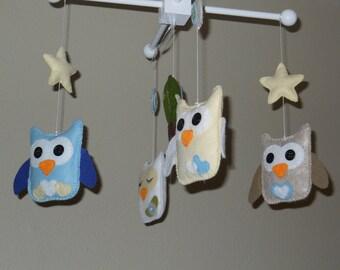 Baby Mobile -Baby Crib Mobile- Owl Mobile- Owls- Tree- Crib Mobile - New item-