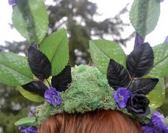Moss Queen Hand Crafted Head-Piece / Crown