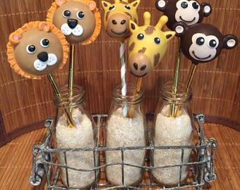 Zoo Animals Cake Pops (Regular or Gluten Free*)