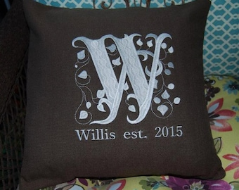 "Family ""Name"" Throw Pillow"
