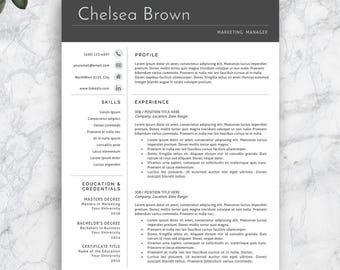 Resume Template, Professional Resume Template, Modern Resume Template.  Professional CV Template For Word