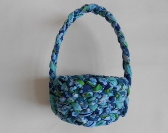 Braided  Fabric Basket with Handle