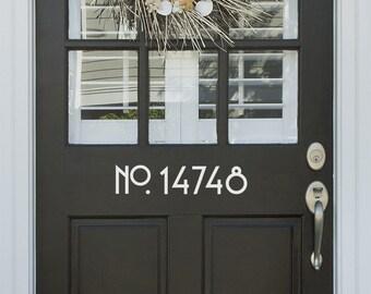Vinyl Craftsman Style Door Numbers | Door Number Decals House Number  Address Number Door Decor Custom