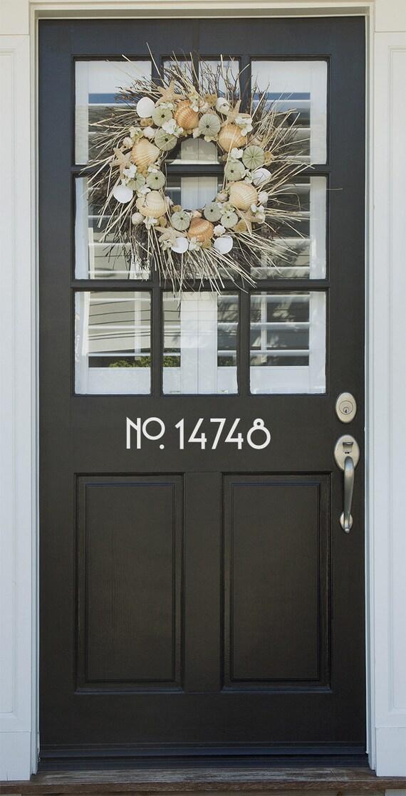 Vinyl craftsman style door numbers door number decals house