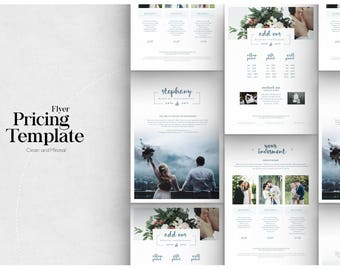pricing guide photoshop template design photography price sheet price list template design for photographer photography price list