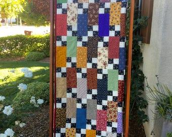 Brick Patchwork Four Patch Quilt