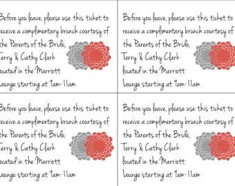 PRINTABLE Custom Wedding Brunch Tickets
