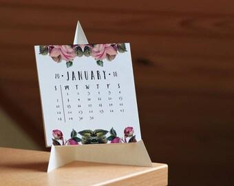 2018 Calendar, Desk Calendar, 2018 Desk Calendar, Download Calendar, Printable Calendar, Monthly Calendar, PDF Calendar, Calendar 2018, 2018